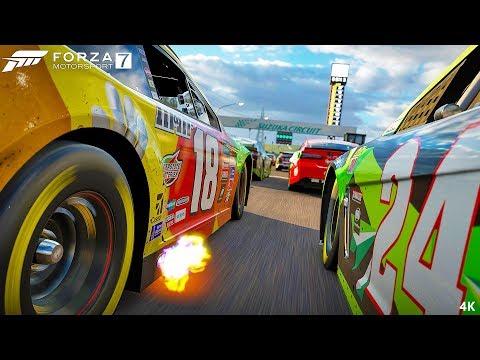 UNBELIEVABLE NASCAR!!! - Forza 7 Motorsport Walkthrough Part 6