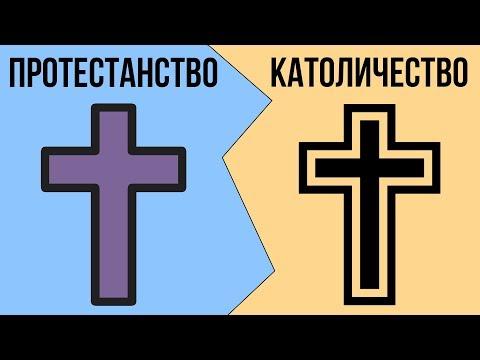 В чем разница между КАТОЛИКАМИ и ПРОТЕСТАНТАМИ ?