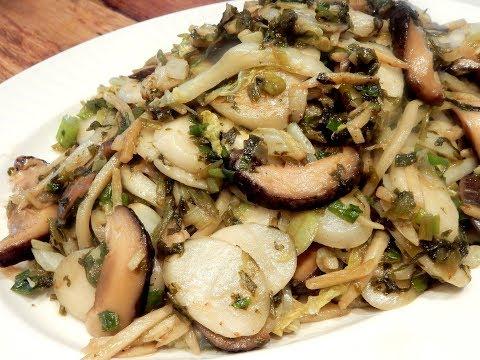 S2Ep56-Shanghai Vegetarian Stir Fry Rice Cakes 上海素炒年糕