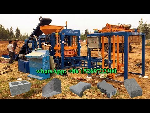 QT4-18 Philippines cement block manufacturing factory MACHINE produce cement solid brick with price