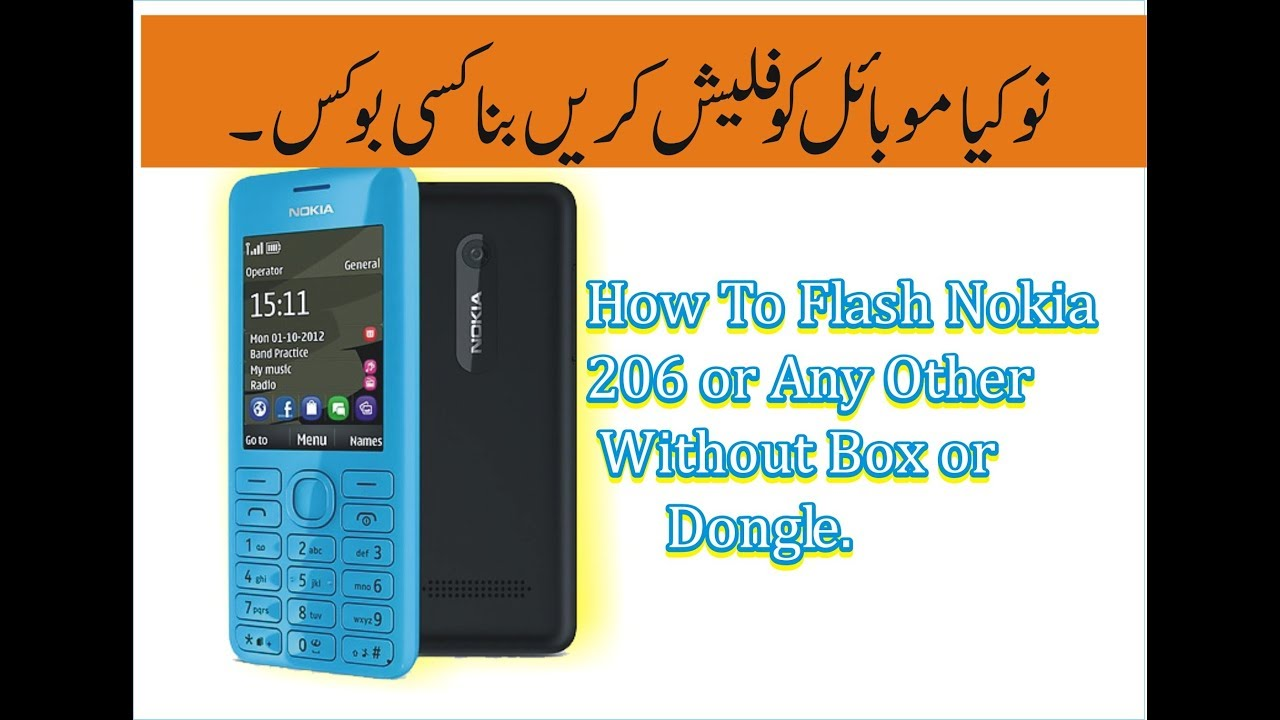 How to flash nokia 206 without box With Nokia Best Tool