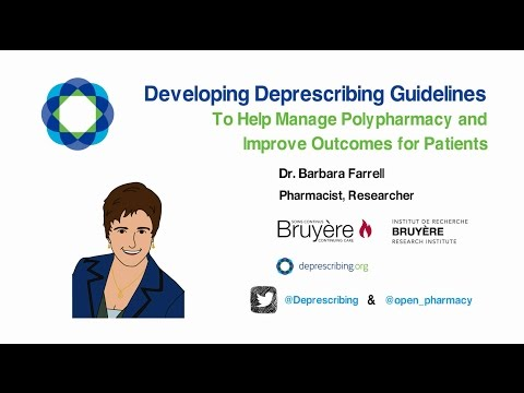 Developing Deprescribing Guidelines to Help Manage Polypharmacy and Improve Outcomes for Patients