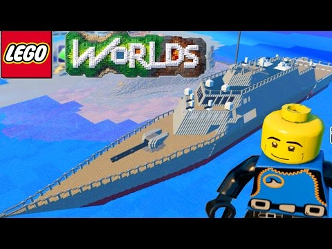 LEGO WORLDS - Epic WAR SHIP Exploration & Building in Lego Worlds #18 (Lego Worlds)