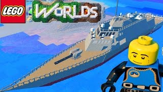 One of Team Ryan's most viewed videos: LEGO WORLDS - Epic WAR SHIP Exploration & Building in Lego Worlds #18 (Lego Worlds)