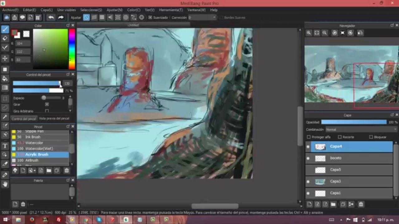 Ambiente Digital Painting Youtube