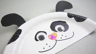 How to make a paper plate dog - EP - simplekidscrafts