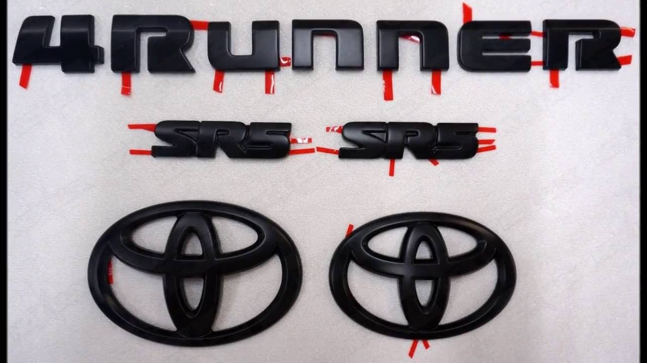Toyota 4runner Emblem Black Out Install Youtube