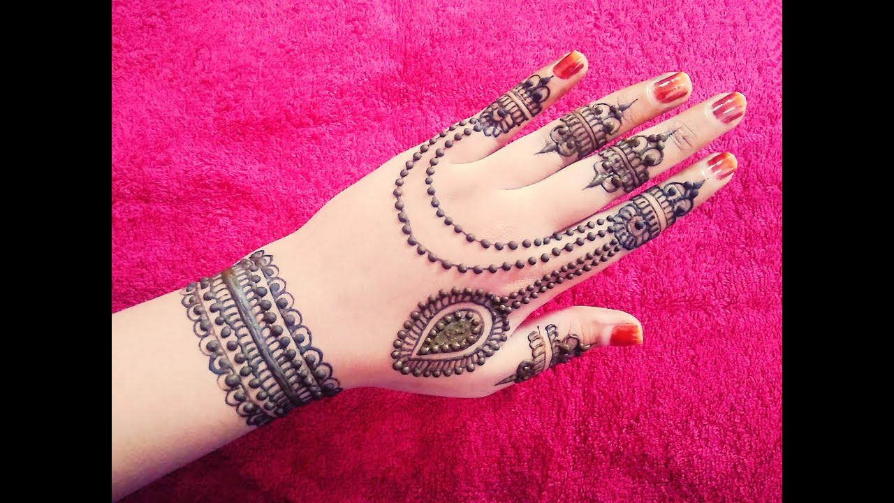 I Mehndi Henna Images : Gulf henna design jewellery mehndi for beginners naush