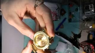 Женские золотые часы распаковка и обзор
