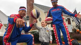3-Year-Old Battling Cancer Shoots Hoops With Globetrotters