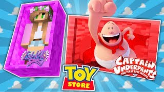 Minecraft TOYSTORE: CAPTAIN UNDERPANTS PRANKS THE STORE! w/LittleKellyandCarly (CustomRoleplay)