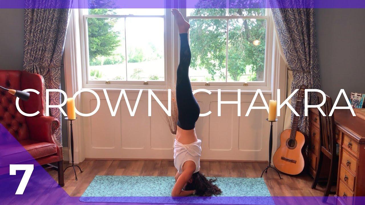 Connecting To The Universe Crown Sahasrara Chakra Yoga Flow Class Yoga Deva 30 Minute Youtube