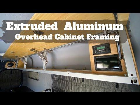 Extruded Aluminum Overhead Cabinet Framing - DIY Sprinter camper van