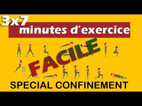 EPS - 3x7 minutes d'exercice (Niveau FACILE) - YouTube