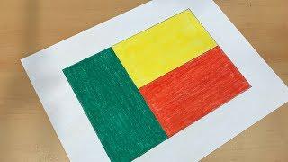 Beninese Flag Drawing 🇧🇯