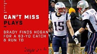 Tom Brady Finds Chris Hogan for a 63-Yd Catch & Run TD!