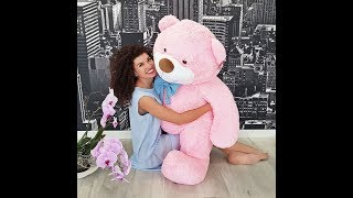 М'яка іграшка Ведмідь Бо 137 см рожевий (великий плюшевий ведмедик)