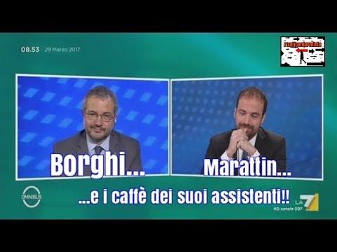 """Claudio Borghi a """"Omnibus"""" su La7 - 29/03/2017 (quanta pazienza ha il prof. Borghi!)"""