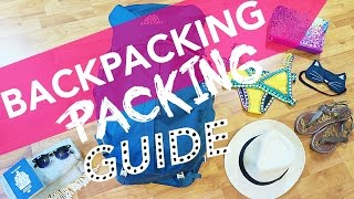 BACKPACKING PACKING GUIDE FOR CENTRAL AMERICA