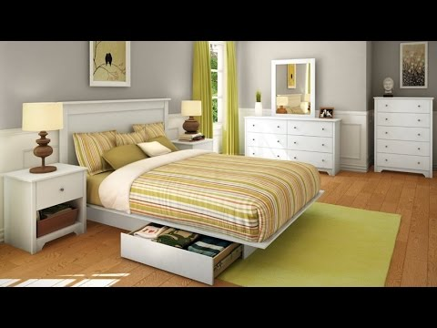 South Shore Vito Collection 5 Drawer Chest The Transitional Style Bedroom  Set In Pure White Finish   YouTube