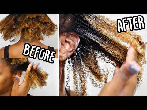 Detangle TANGLED DRY Type 4 Natural Hair EASILY! Detangle Routine | African Pride Moisture Miracle
