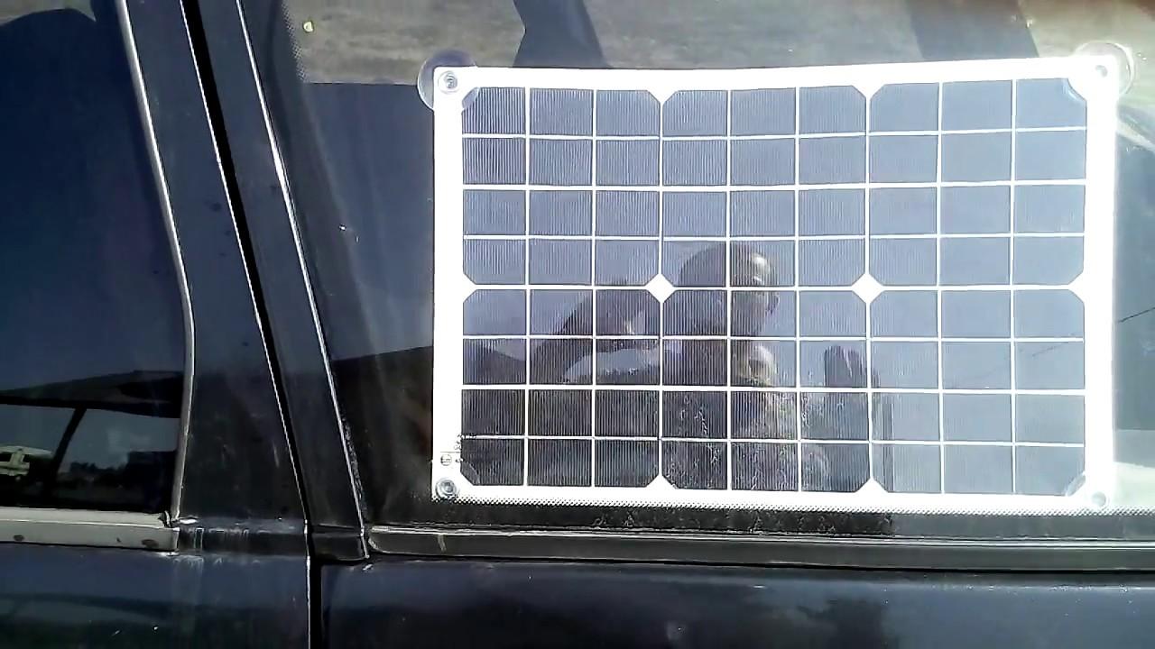 Солнечная панель на машине. Зачем?