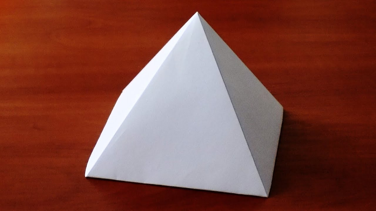 How To Make Paper Pyramid Very Easy