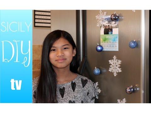 Simple Christmas DIY (fridge magnets)