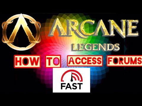 Arcane Legends   How To Access Forums Fast!!!