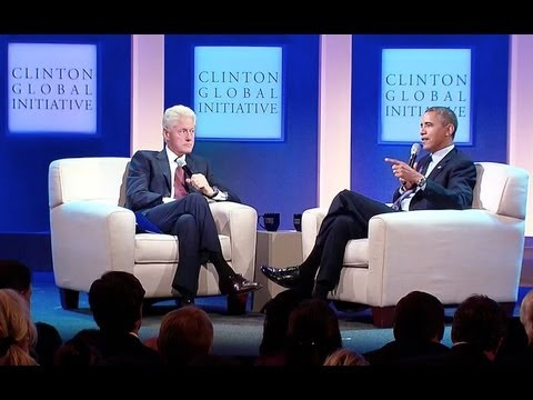 President Obama and President Clinton Discuss Health Care