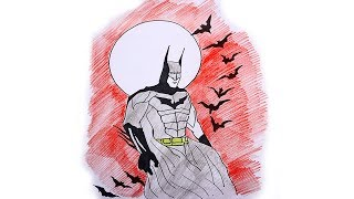 How to Draw Batman Step By Step   Easy Batman Drawing   Batman Coloring Pages