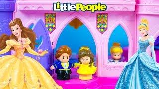 Disney Princess Musical Dancing Palace Little People Toys Belle Beast Cinderella Kinder Playtime