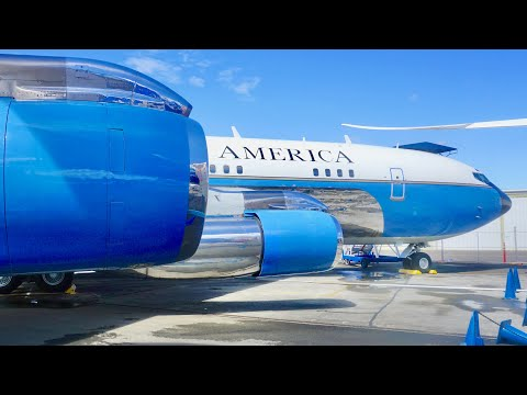 Tour through JFK's Air Force One (VC-137B) at the Museum of