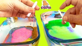 #ЛИЗУН ЧЕЛЛЕНДЖ МЕНЯЕМСЯ ИЛИ НЕТ?! GLUE SLIME SWITCH-UP CHALLENGE