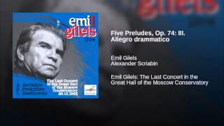 Five Preludes, Op. 74: III. Allegro drammatico