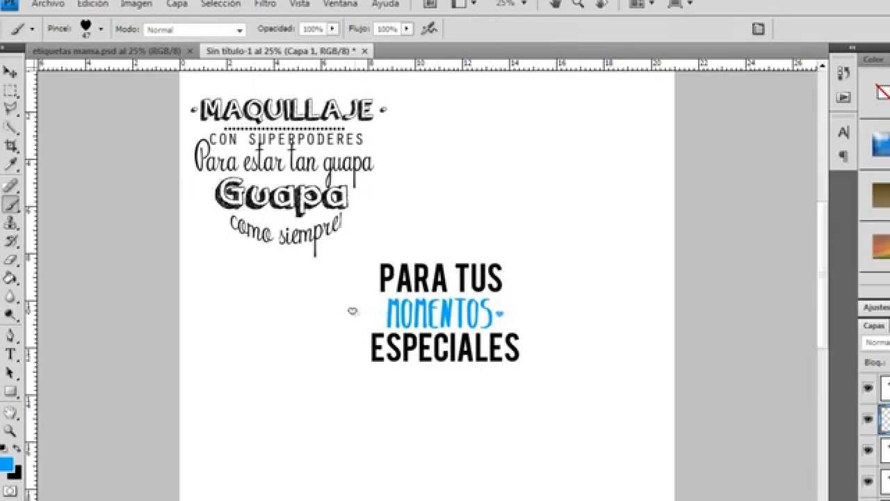 COMO HACER ETIQUETAS TIPO MR WONDERFUL!♥ - YouTube