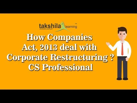 CS Professional Online Classes- How Companies Act, 2013 deal with Corporate Restructure by LK Soni