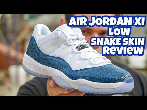 AIR JORDAN XI LOW (SNAKE SKIN) REVIEW