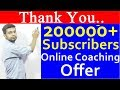Thank You 200000+ Subscribers | Online Coaching Offer