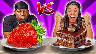 STRAWBERRY VS CHOCOLATE FOOD CHALLENGE