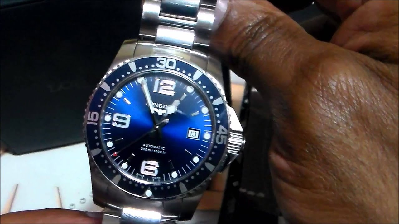 Longines Hydroconquest Automatic >> Longines hydroconquest L3.642.4.96.6 Review - YouTube