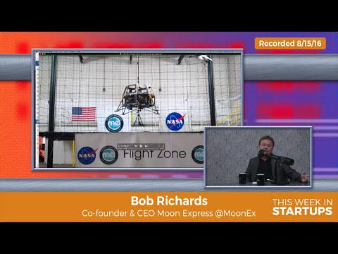 Bob Richards, CEO of Moon Express, partnered w/ @NASA to build H2O2-powered robotic moon-lander