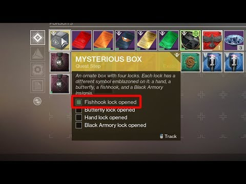 Fishhook Lock Opened - Mysterious Box Exotic Quest (Black Armory Key  Location) [Destiny 2]