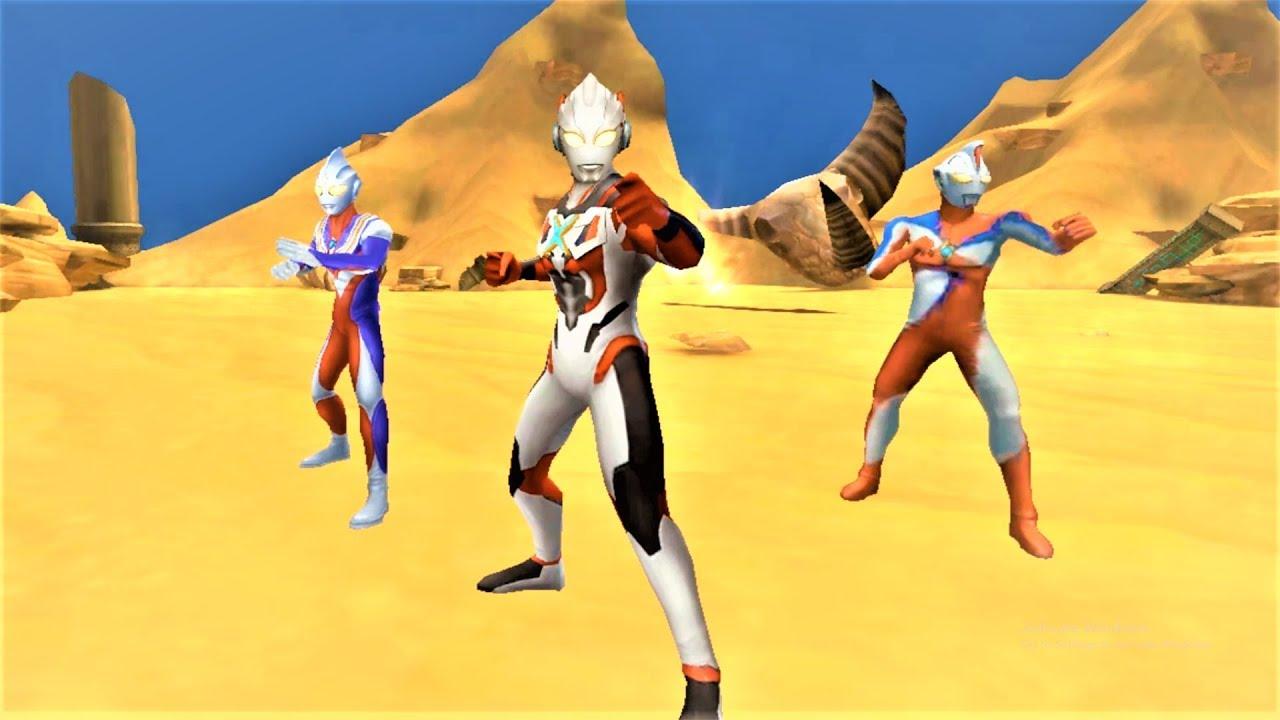 Sieu nhan game play | Ultraman X 5 sao mạnh không tưởng - Chơi game ultraman Orb mới !