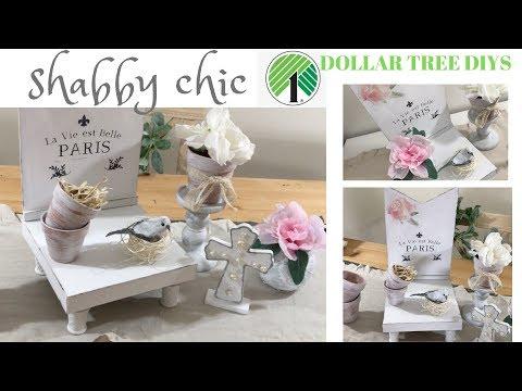 SHABBY CHIC DOLLAR TREE DIY