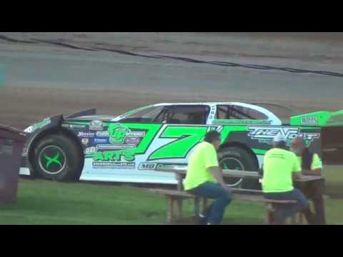 6/24/16 Red Cedar Speedway Late Model 3 wide first corner!