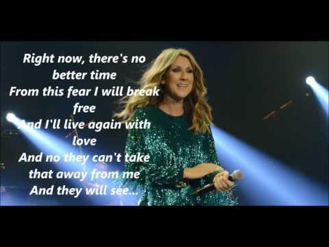 Celine Dion - I Surrender (lyrics)