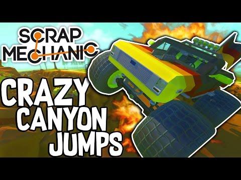 Scrap Mechanic CREATIONS! - CRAZY CANYON JUMPS!! [#36] W/Speedy | Gameplay |