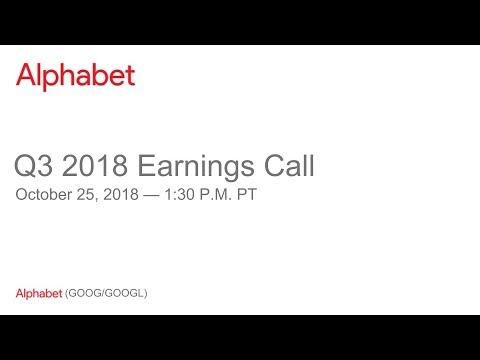 Alphabet reports Q3 2018 revenue of $33.74 billion