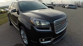 2015 GMC Acadia Denali Black | Used SUV Martinsville, IN | Luxury Vehicles |  17728A